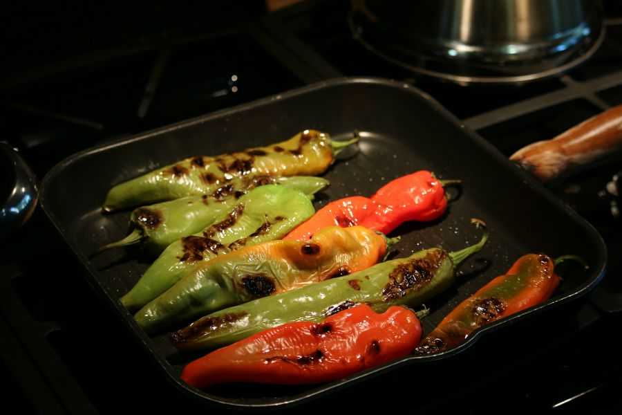 Pan Roasting Hatch Green Chile