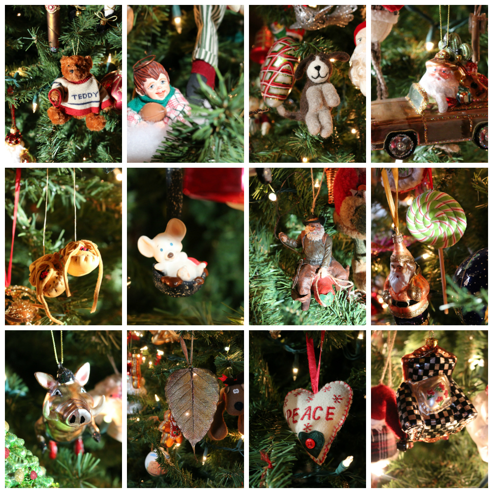 A few of my favorite Christmas ornaments. I have been collecting ornaments since the 1980's. My collection includes ornaments from my travels. Each one is very special.