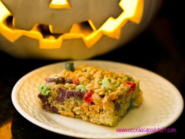 Buttery Rice Krispies Treats with Fruit Loops