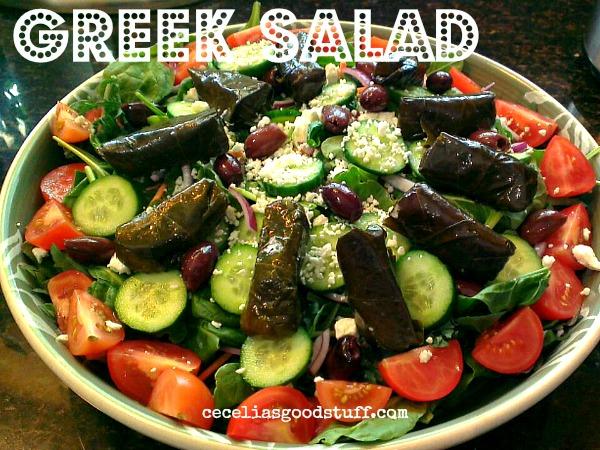 Greek Salad with Dolmas