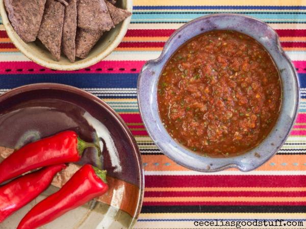 Roasted Jalapeno & Tomato Salsa
