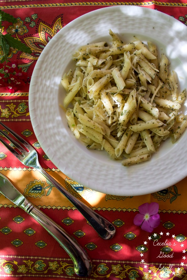 Penne Pasta with Sage Pesto - this stuff is amazing!