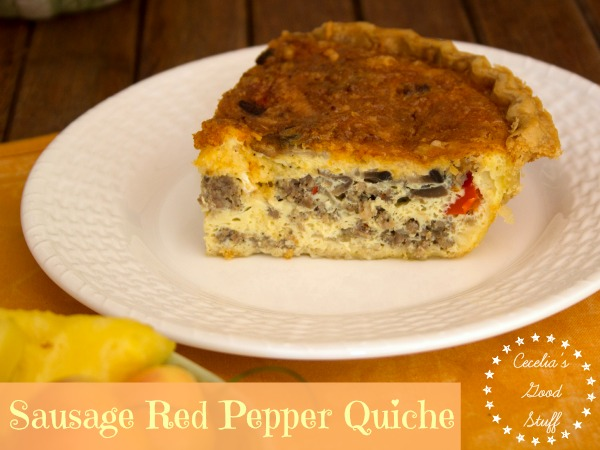 Sausage Red Pepper Quiche