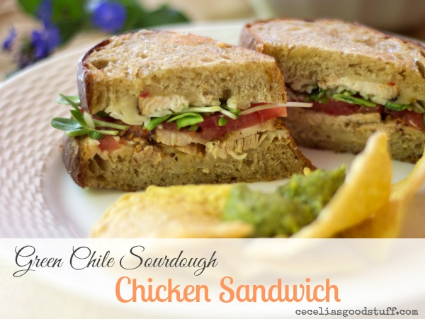 Green Chile Sourdough Chicken Sandwich