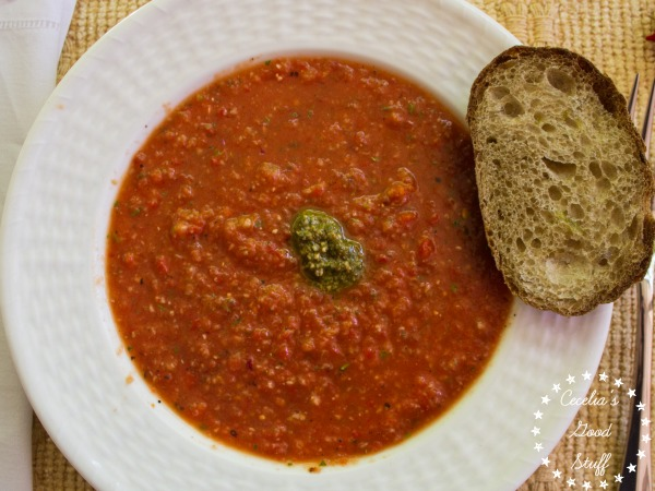 Chilled Roasted Red Pepper Gazpacho