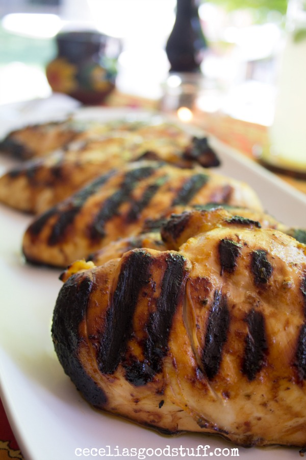 Red Chile Grilled Chicken & Calabacitas