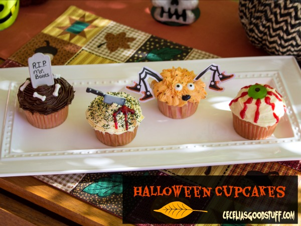 Halloween Cupcakes using easy kits from Wilson Cake Decorating.