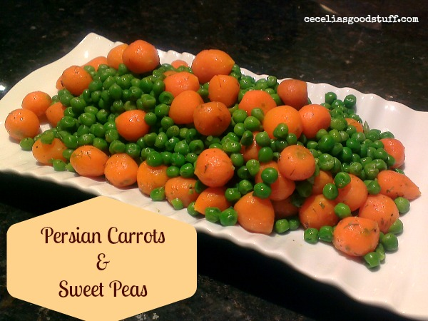 Persian Carrots and Sweet Peas