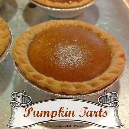 Pumpkin Tarts perfect for Thanksgiving and the holidays.  CeceliasGoodStuff.com
