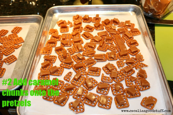 Pretzel Bark with Caramel and Nuts