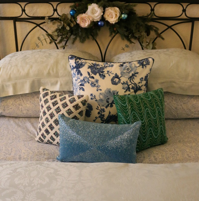 Guest Bedroom with Beaded Pillows