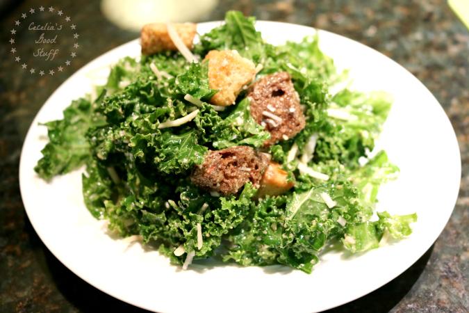 Caesar Salad with Kale