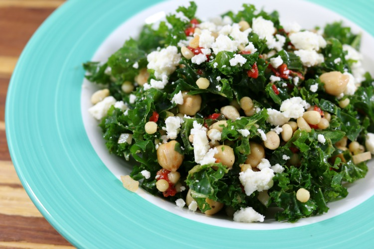 Kale with Israeli Couscous