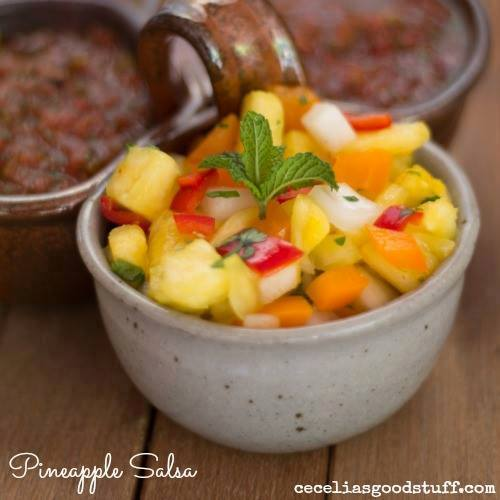 Delicious and freshing Pineapple salsa. Great with tacos, fish, pork and chicken.