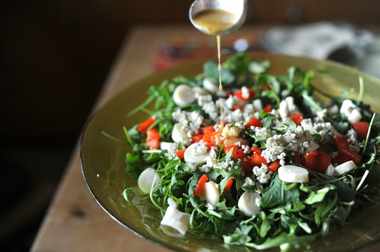 Arugula Salad  with White Balsamic Vinaigrette