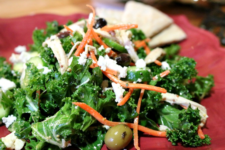 Mediterranean Kale Salad and Lemon Herb Vinaigrette