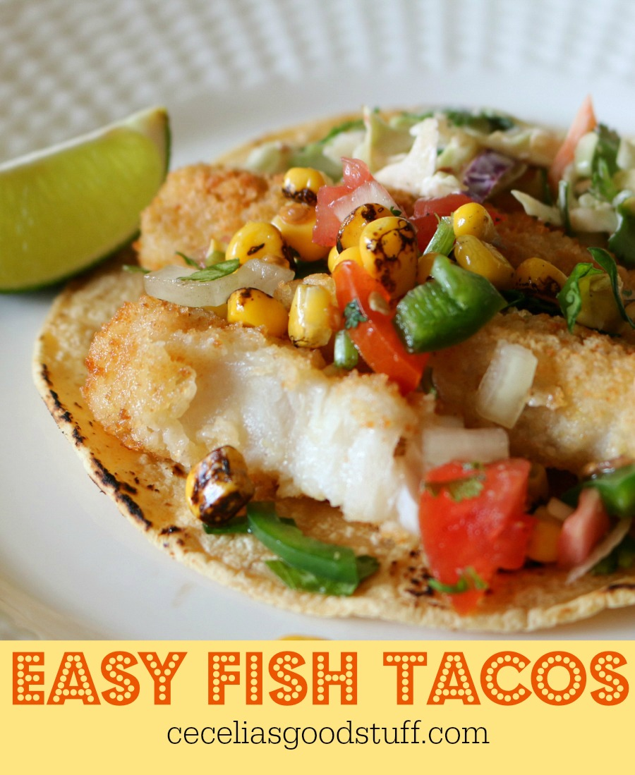 Great weeknight dinner option. Easy Fish Taco Recipe.