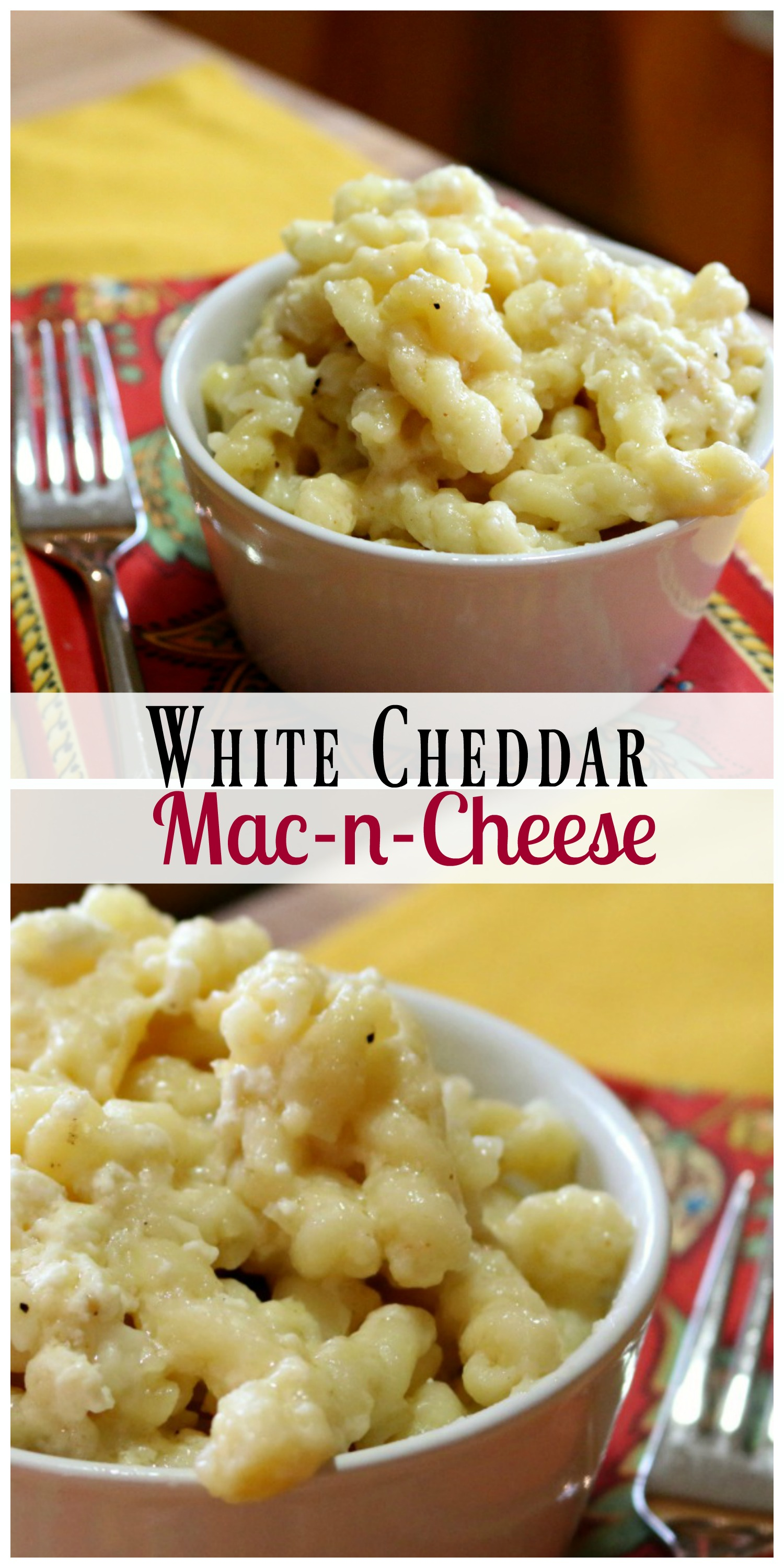 Easy and delicious White  Cheddar Mac-n-Cheese