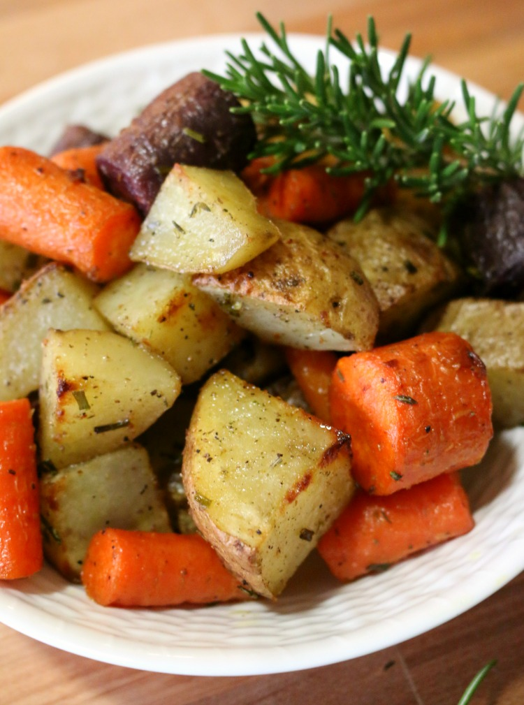 Easy recipe for Roasted Potatoes and Carrots  CeceliasGoodStuff.com Good Food for Good People - Rosemary Roasted Potatoes and Carrots