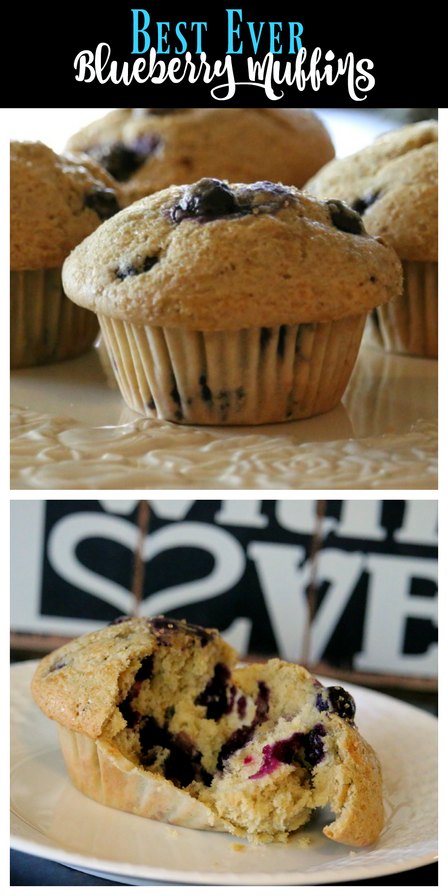 Best Ever Blueberry Muffin Recipe | Simply the Best Recipe Ever for homemade blueberry muffins  | CeceliasGoodStuff.com | Good Food for Good People