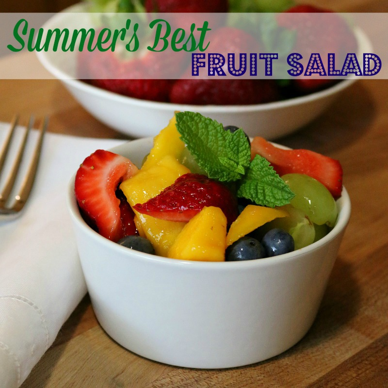 Fresh organic fruit make's for the Summer's Best Fruit Salad.