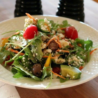 Arugula Summer Salad with Red Wine Vinaigrette