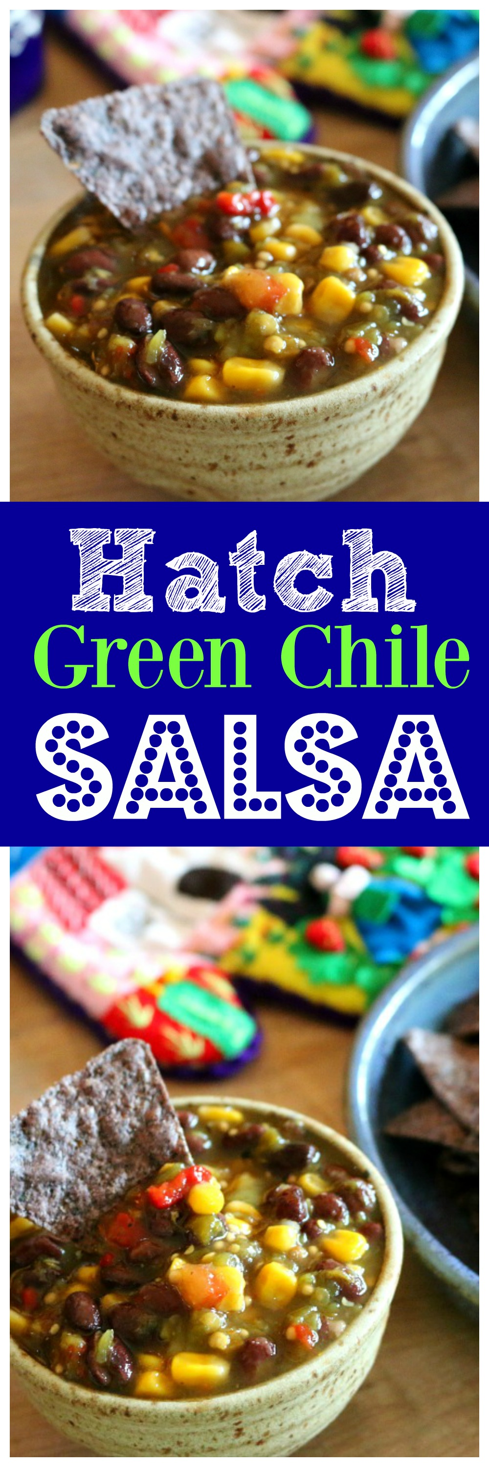 Hatch Green Chile Salsa - Simple and Easy Salsa made in a few minutes - CeceliasGoodStuff.com
