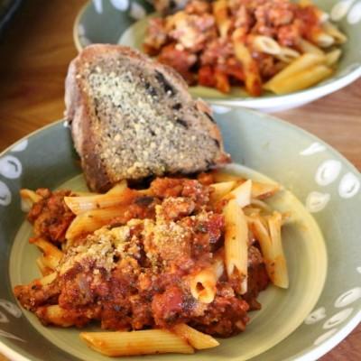 Easy Arrabiatta Pancetta Penne Pasta