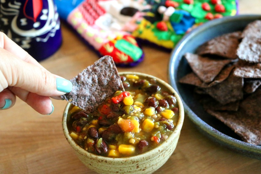 Green Chile and Black Bean Salsa