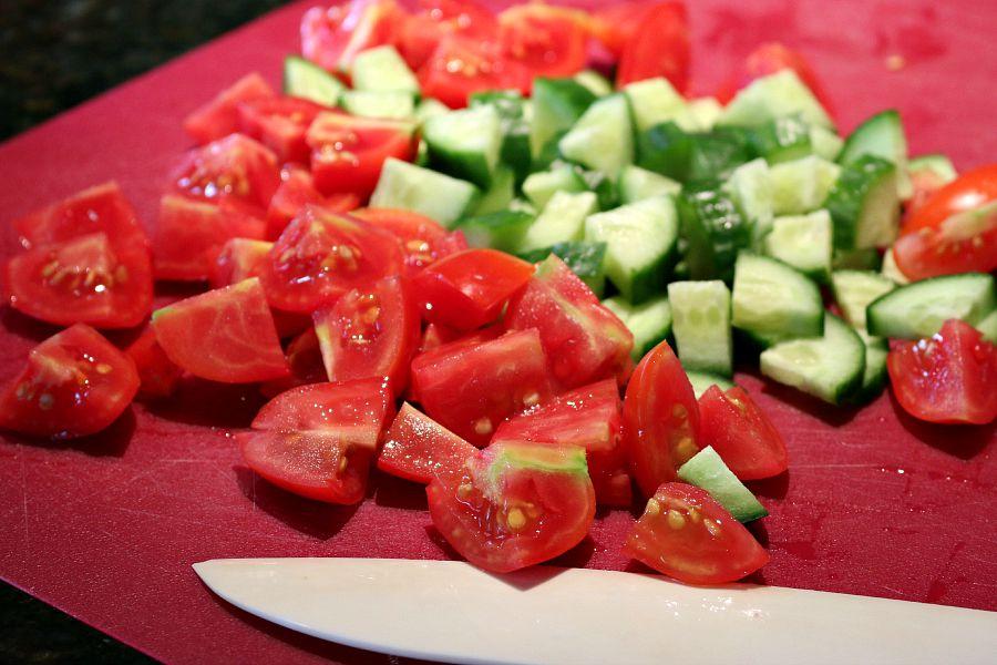 Garden Tomato & Cucumber Salad