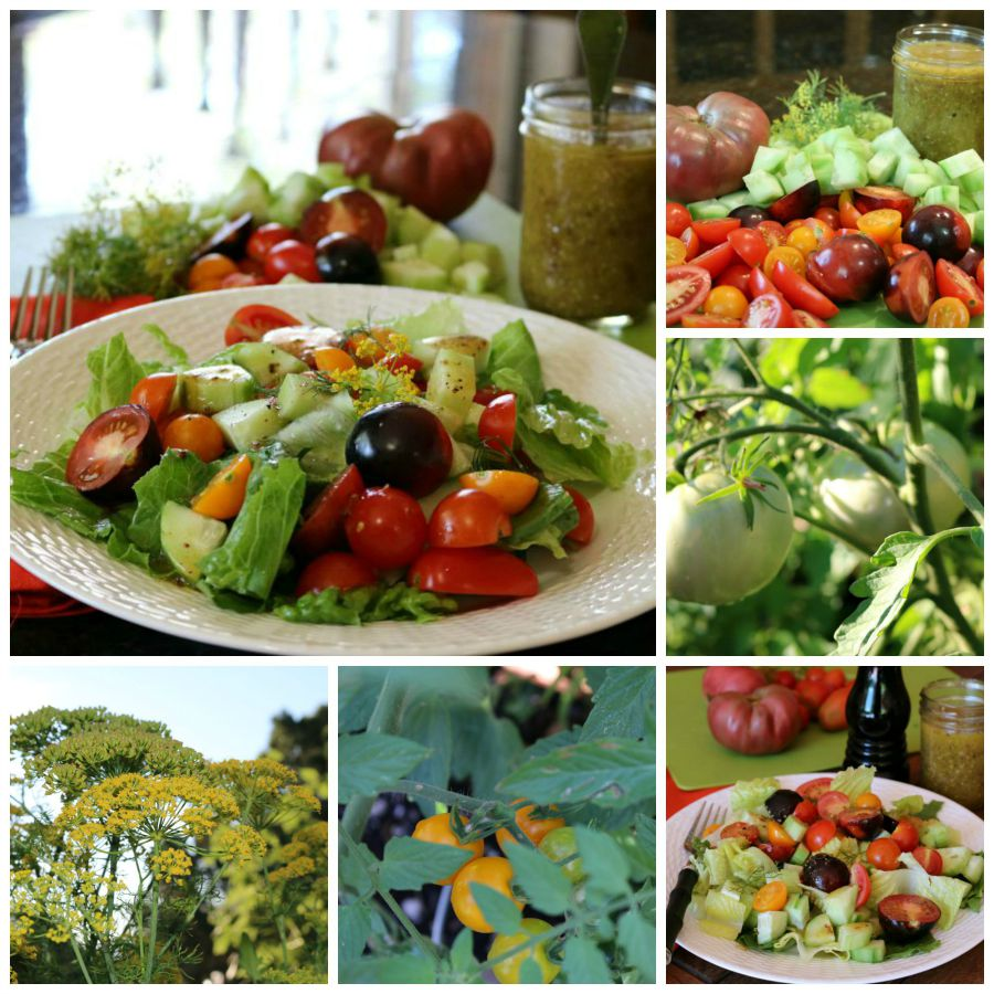 Heirloom Tomato Salad and a few more garden images.