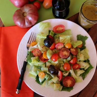 Heirloom Tomato Salad & Homemade Vinaigrette