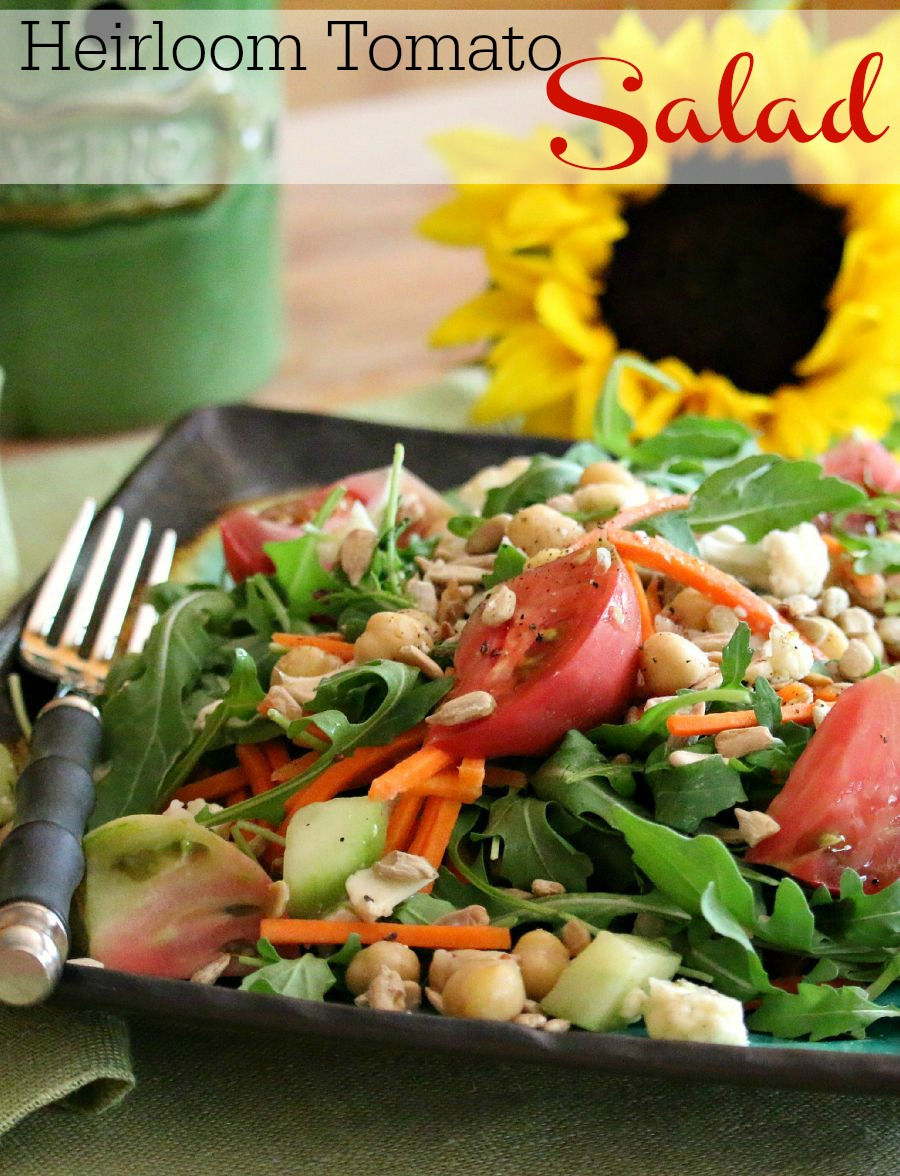 Healthy Salad  Recipe - Arugula Heirloom Salad