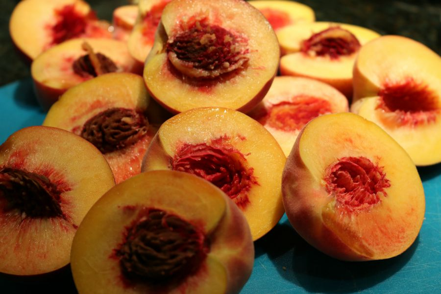 Perfectly ripe peaches make for a great homemade pie!