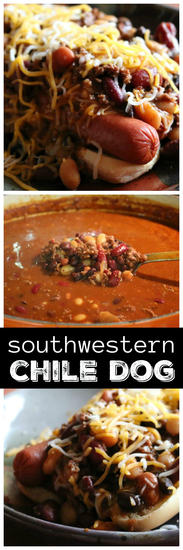 Southwestern Style Chili Dog CeceliasGoodStuff.com   Good Food for Good People
