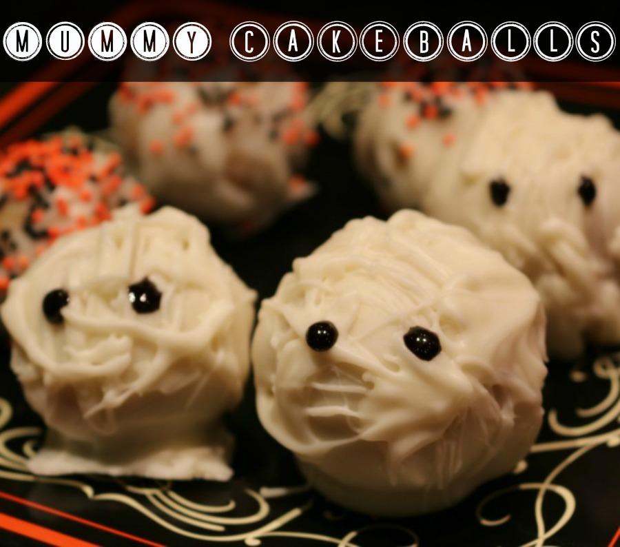 Halloween Mummy Cakeballs  Recipe