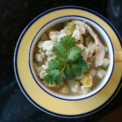 Crockpot Green Chile Chicken Posole