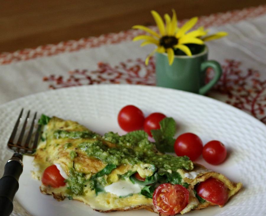 Italian Omelette with Pesto