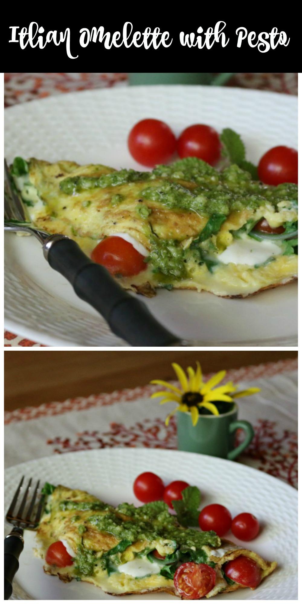 Italian Omelette with Pesto - Low Sugar Recipe Ideas from www.ceceliasgoodstuff.com
