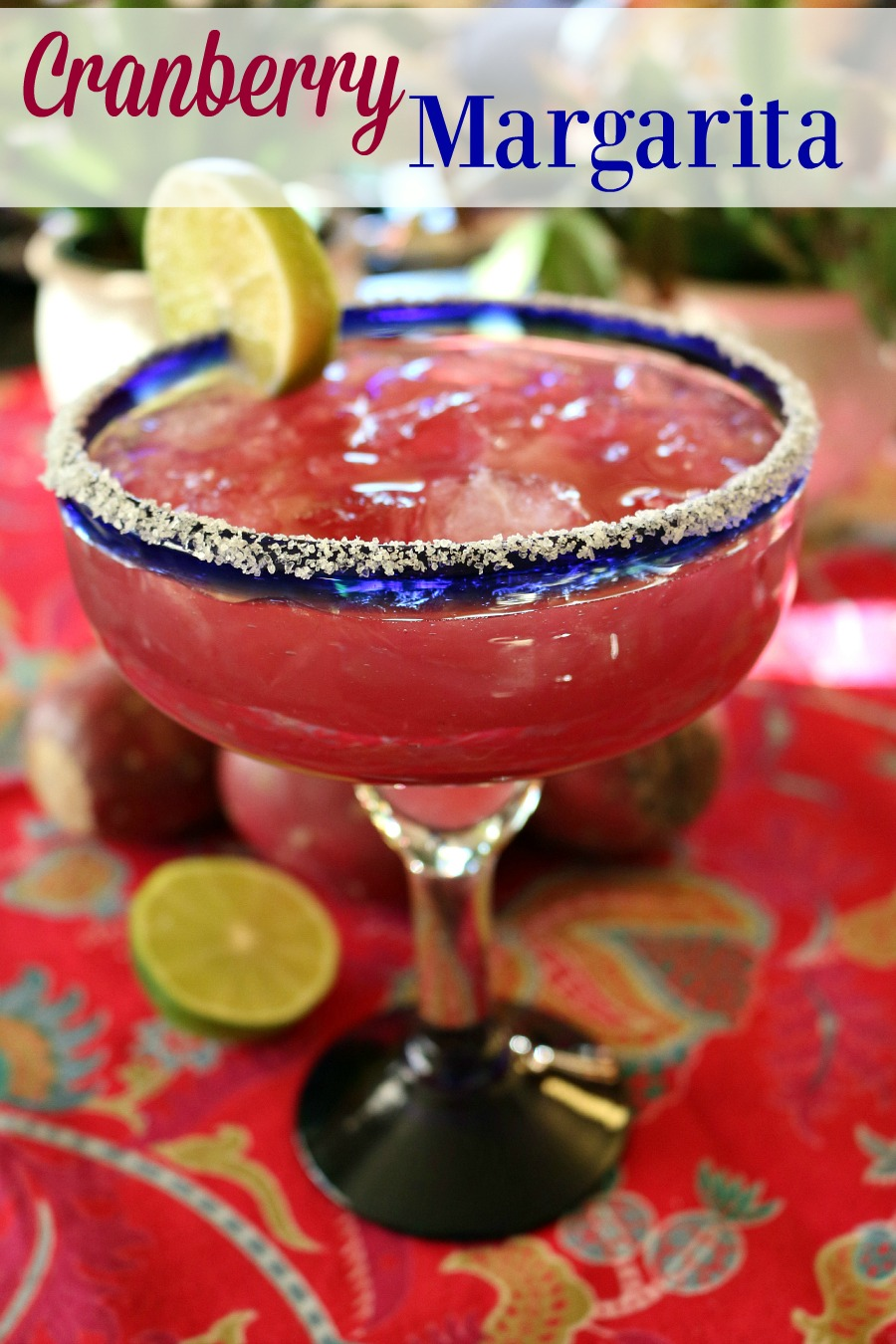 Perfect HOLIDAY COCKTAIL - CRANBERRY MARGARITA  find this delicious cocktail recipe at www.ceceliasgoodstuff.com
