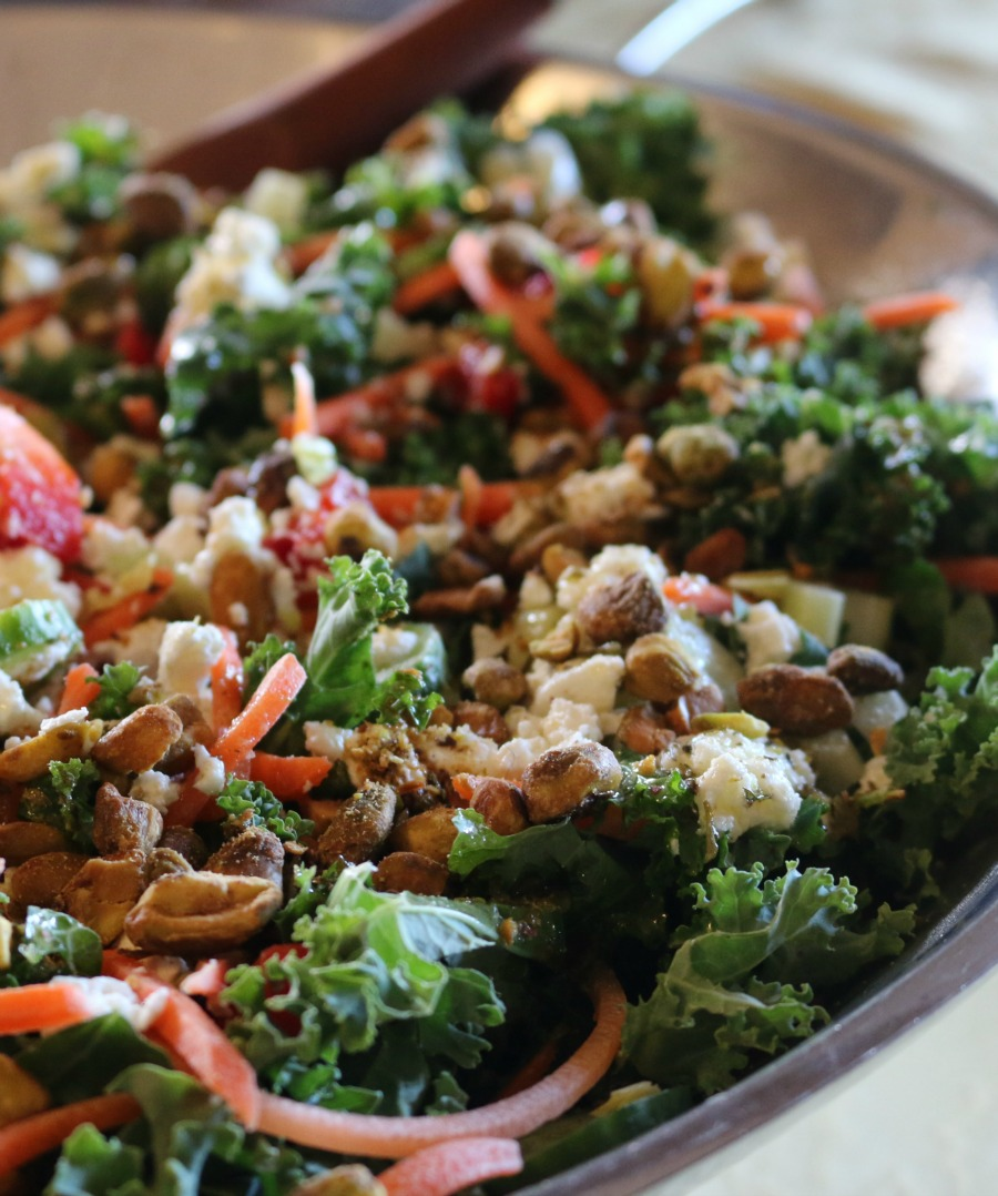 Hearty kale salad with Lemon Herb Vinaigrette