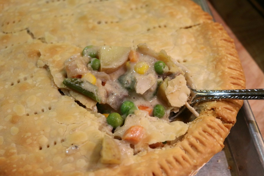 Thanksgiving Leftovers - Simply substitute the chicken with roasted turkey! Get the recipe for Chunky Pot Pie  CeceliasGoodStuff.com | Good Food for Good People