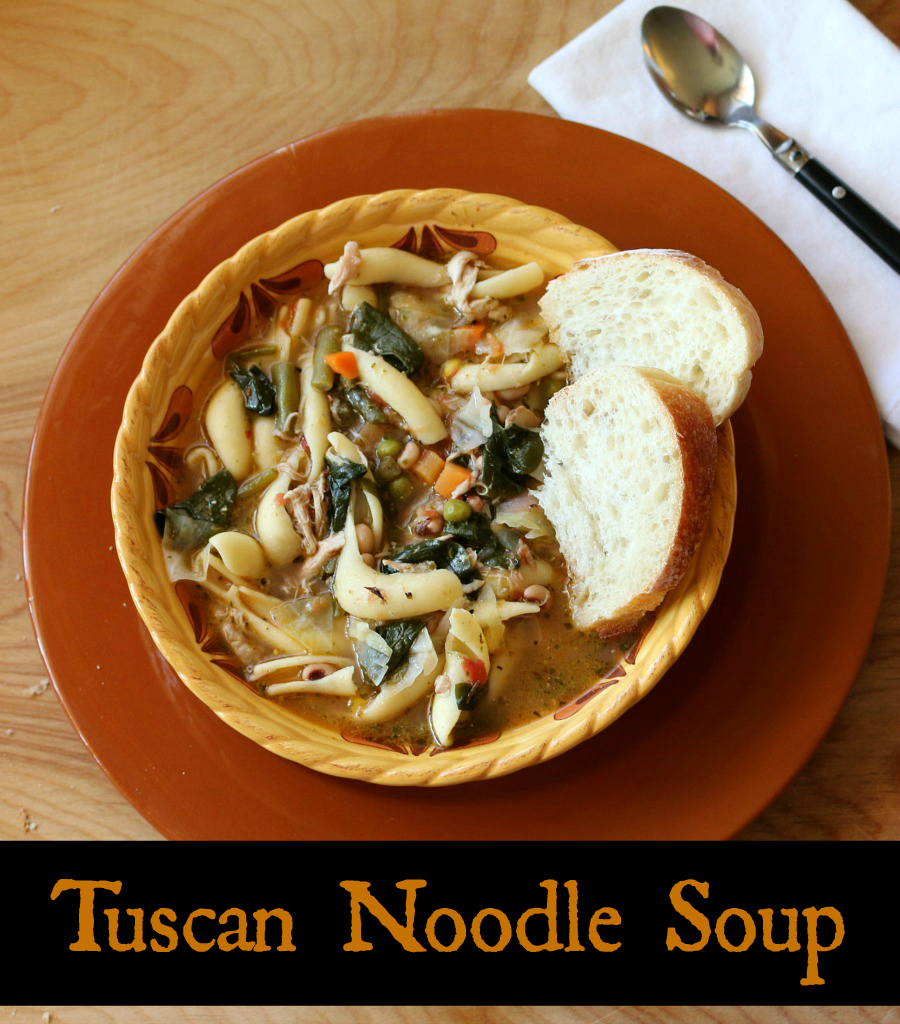 Delicious comfort food recipe - Tuscan Noodle Soup. Perfect for a chilly evening dinner.