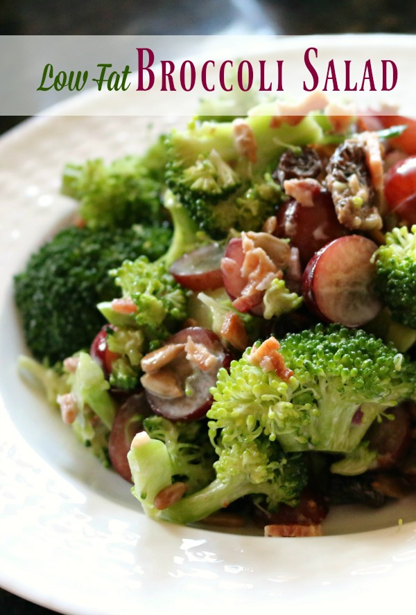 "Low Fat Broccoli Salad - ""Skinny Option"""
