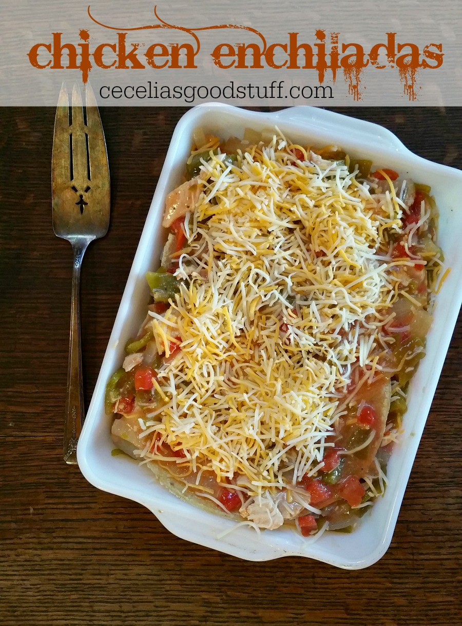 Green Chile Chicken Enchilada - Made with Hatch Green Chile