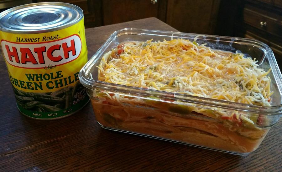 Hatch Green Chile Chicken Enchiladas
