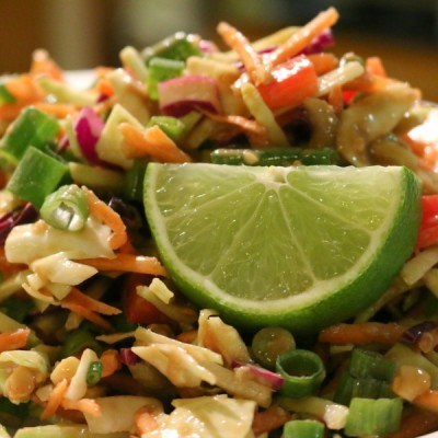 Spicy Peanut Asian Slaw