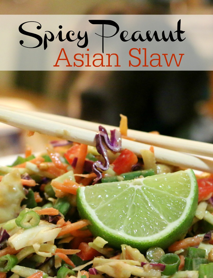 Gluten Free Recipe for Spicy Peanut Asian Slaw