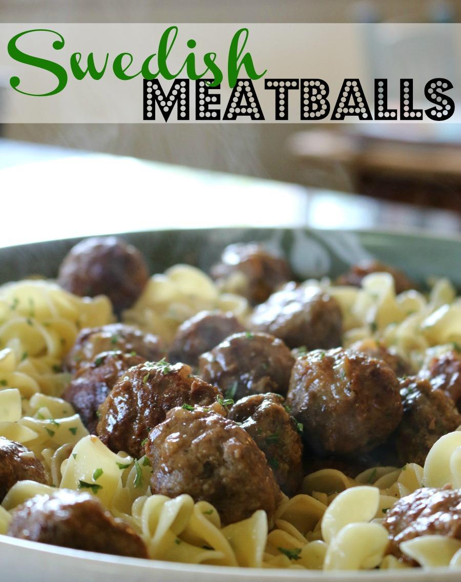 Best Recipe Ever - Swedish Meatballs over Egg Noodles - Cecelia's Good Stuff