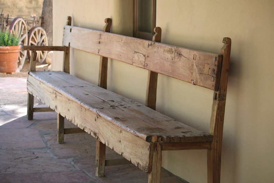Oversized Wooden Bench